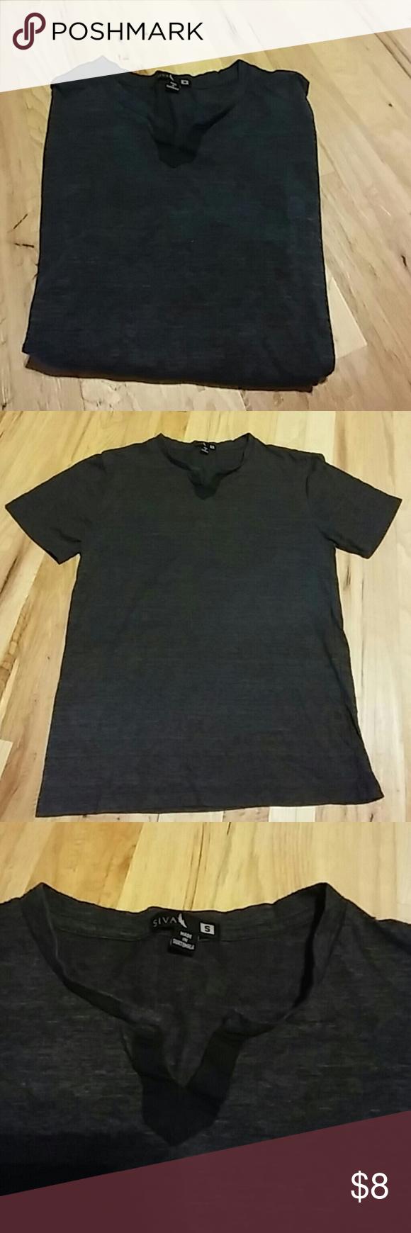 Dark Grey Vneck Mens Dark Grey Vneck Brand: Siva Size Small Siva Shirts Tees - Short Sleeve