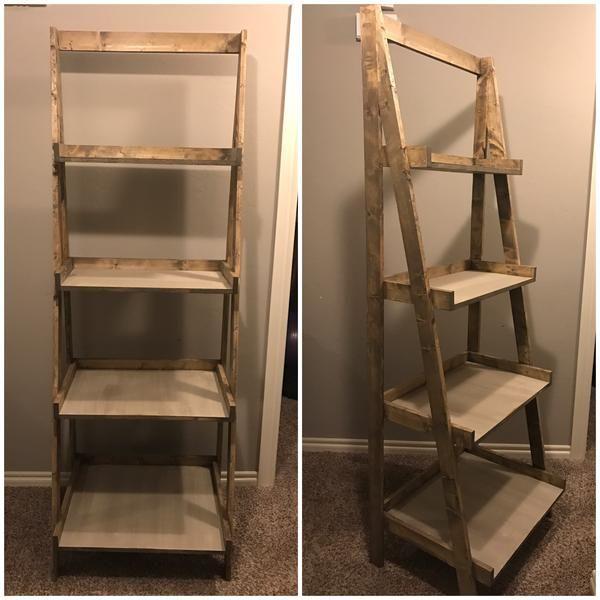 Ana White Painters Ladder Shelf Ladder Shelf Diy Furniture Diy Diy Furniture