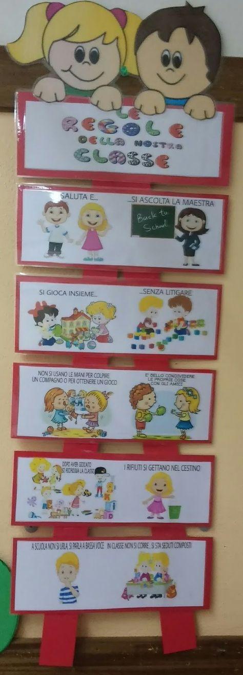 Accoglienza il cartellone delle regole ringrazio gli amici for Idee per cartelloni scuola infanzia