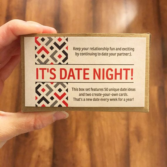 ready to ship  52 date night ideas  date night cards