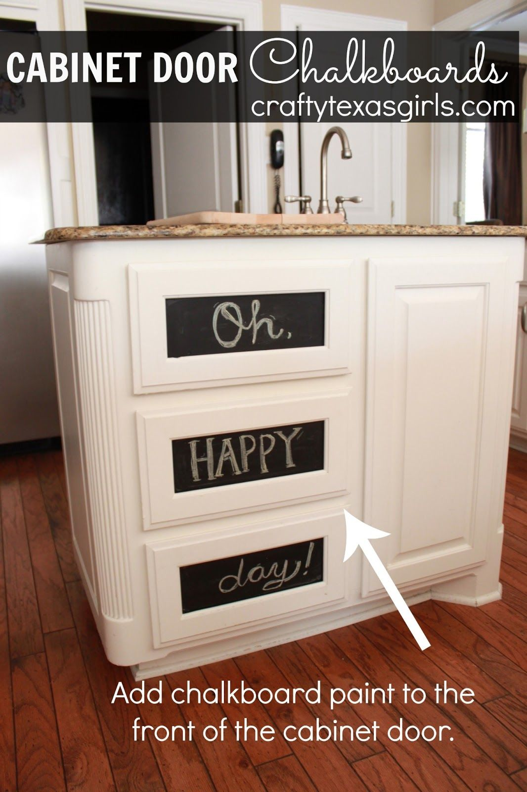 Kitchen Cabinet Chalkboards Diy How To Turn Your Cabinets Into