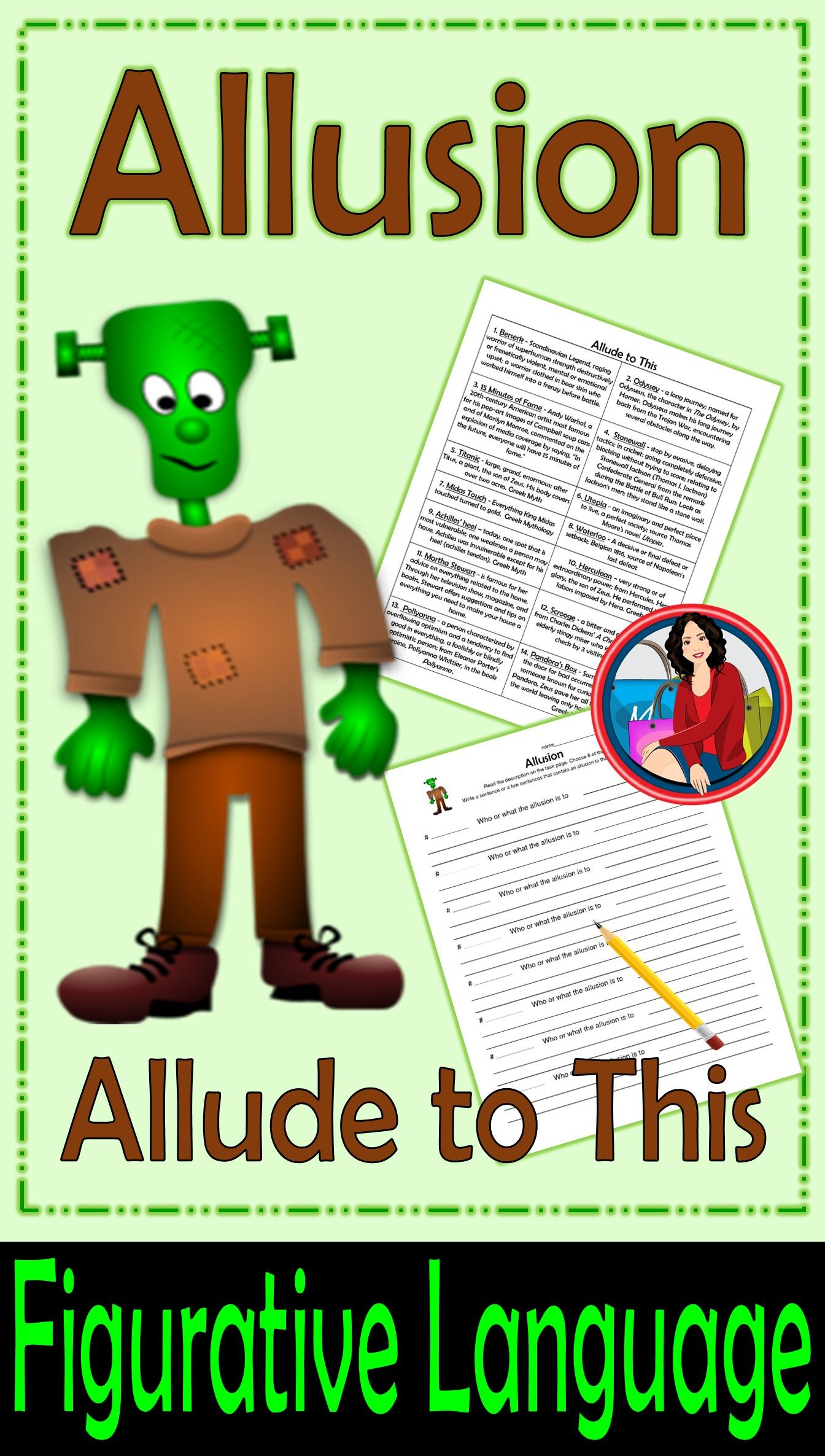 Allusion Writing Activity Language Activities And Sentences