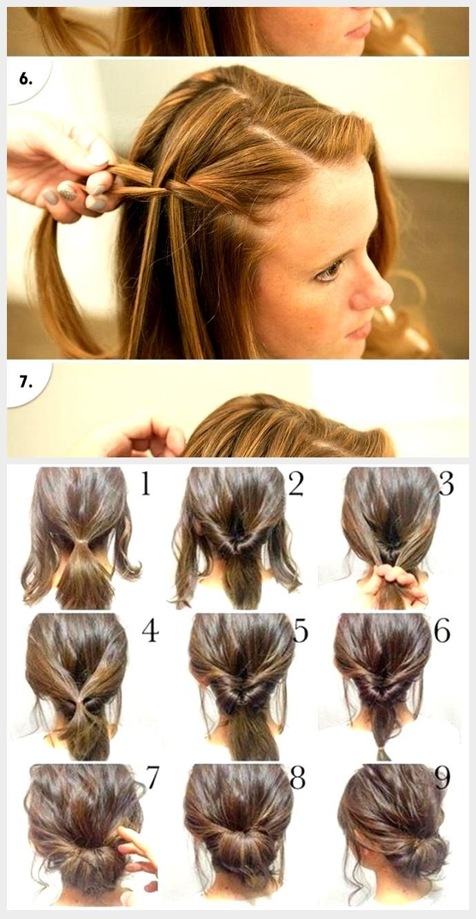Fast, easy, formal party hairstyles for long hair DIY ideas 2018 - all ... in 2020 | Long hair ...