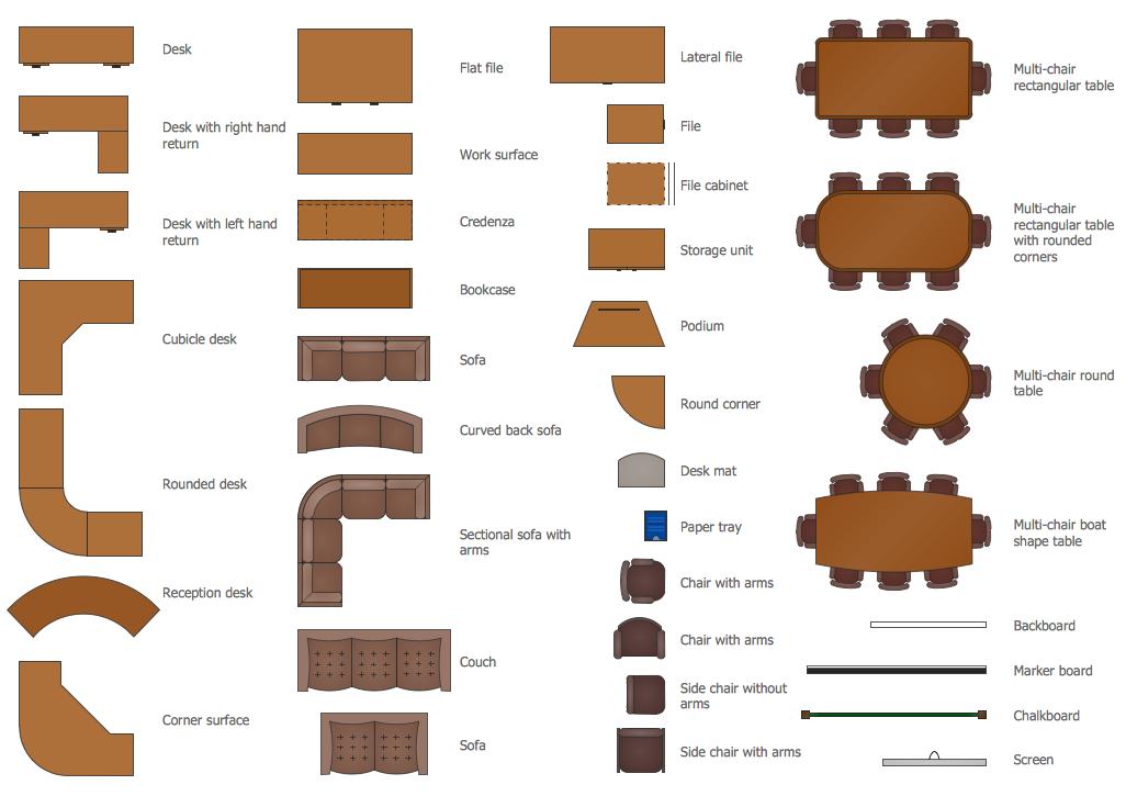 office design planner. vector shapes of office ideas u2014 furniture design planner e
