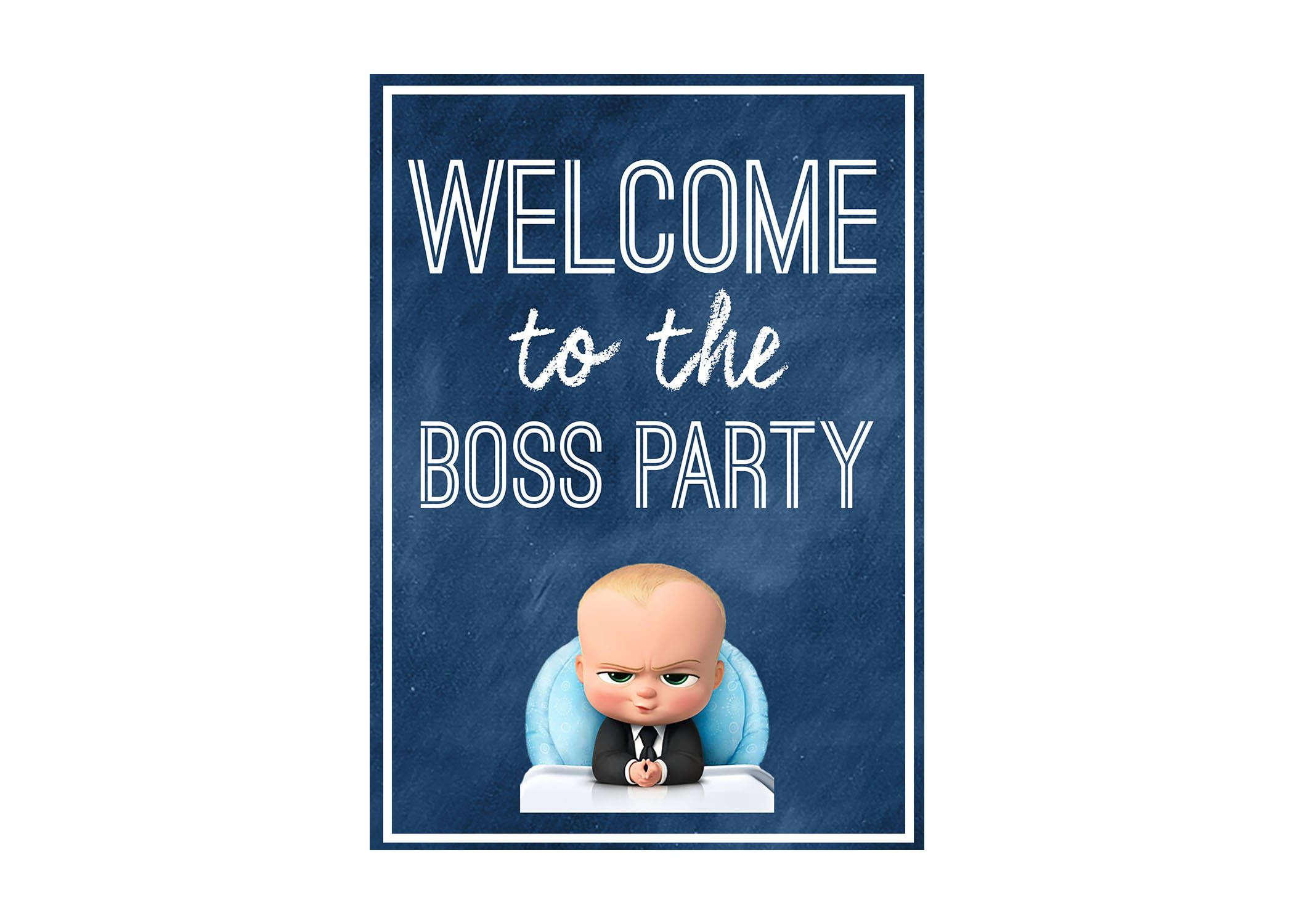 Boss Baby Party Welcome Sign Instant Download By Landriboutique On Etsy Bebe Jefazo Cumpleanos Del Jefe Cumpleanos Del Bebe
