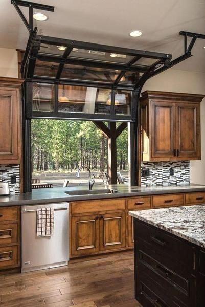 Homedecorkitchen Glass Garage Door Rustic Kitchen Kitchen Design