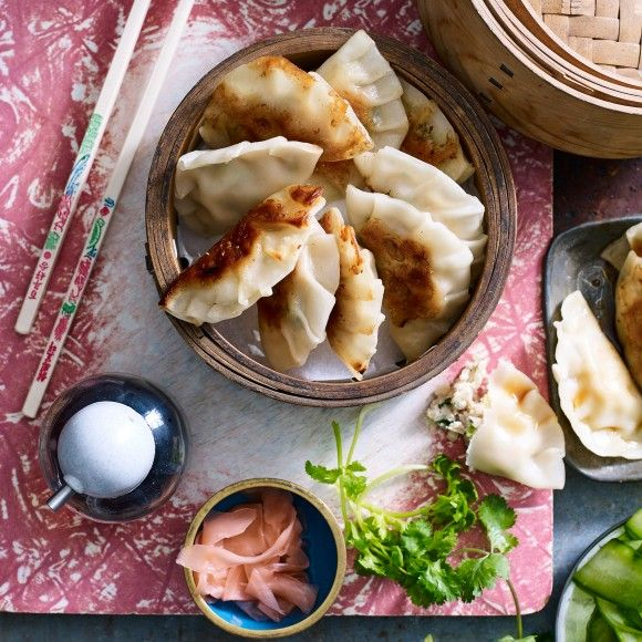 Chicken gyozas my food book pinterest dim sum recipes and meat make homemade gyozas with this easy chicken gyoza recipe idea serve your asian style gyoza recipe with an japanese inspired meal forumfinder Images