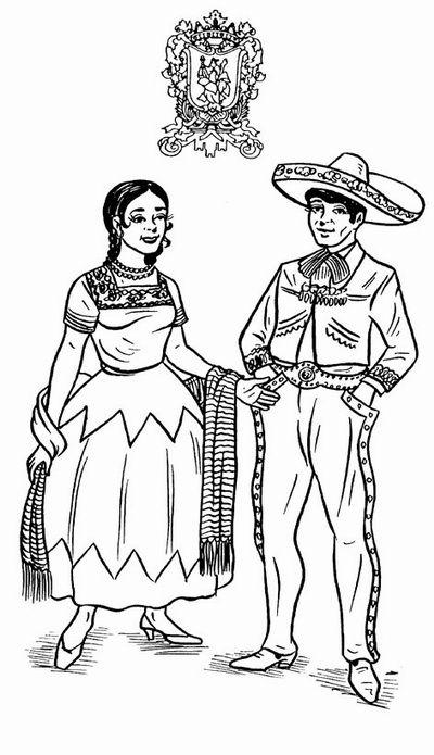 traje regional de guanajuato | Arte 3ero | Pinterest | Colores ...