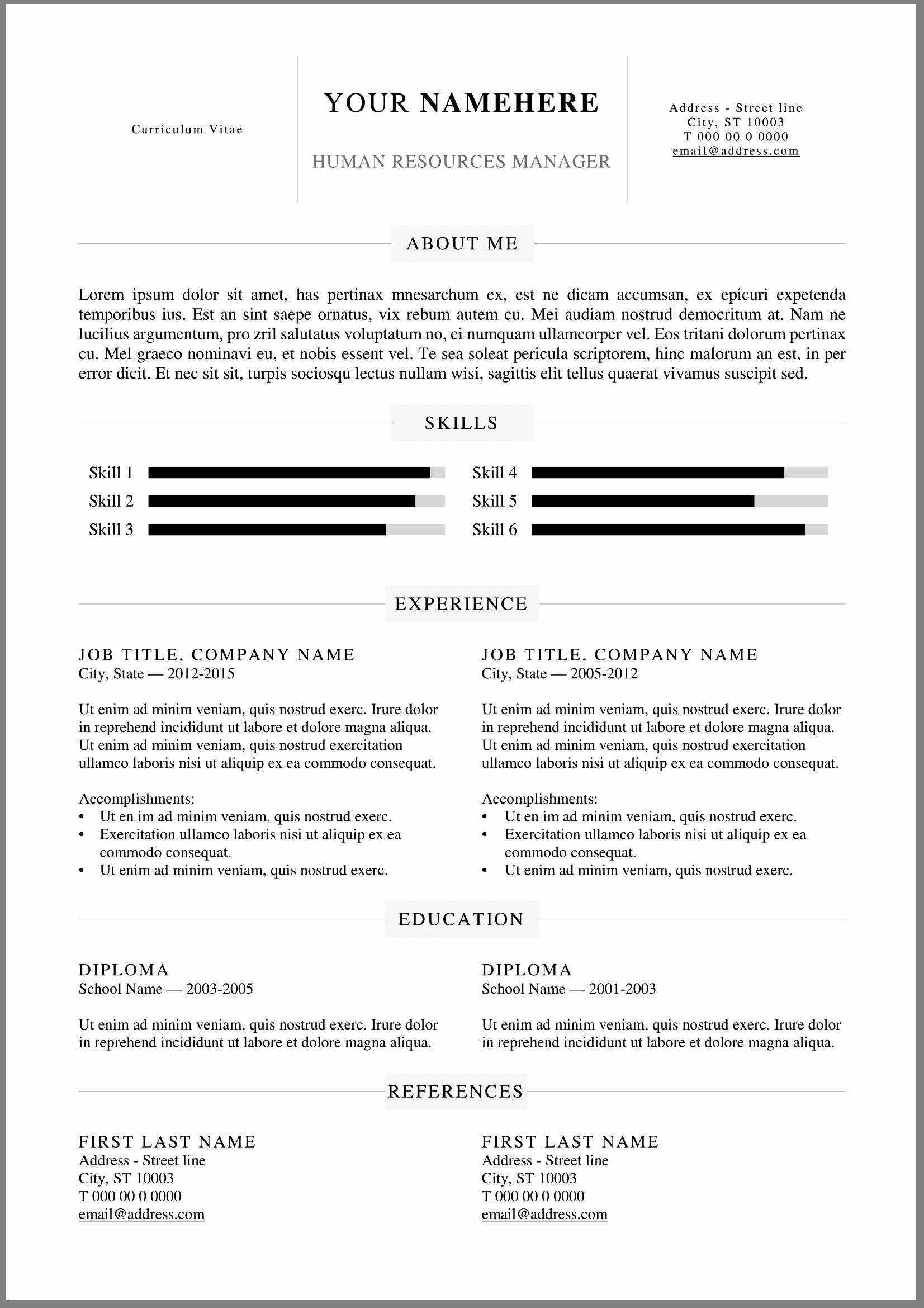 25 it resume template word in 2020 with images resume