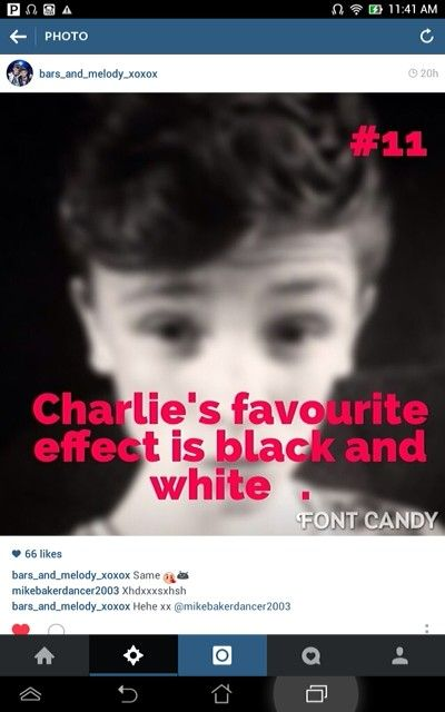 Charlie and me wpuld be great♥♥