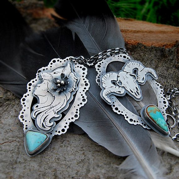 The Wolf Girl Necklace Silversmithed Royston by LilyBlonde