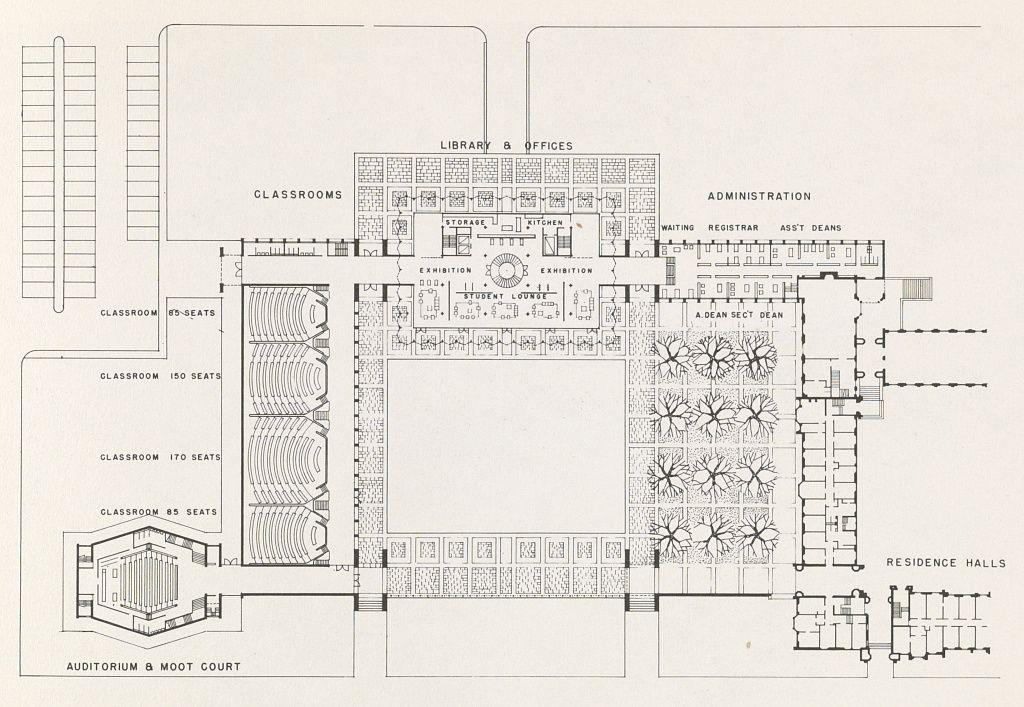 Saarinen University of Chicago plan and buildings 1955