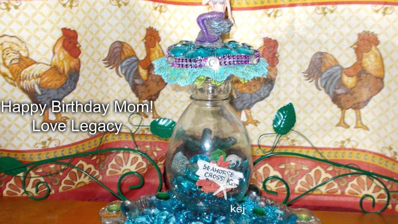 Diy dollar tree makeup mermaid brush and mermaid tabletop