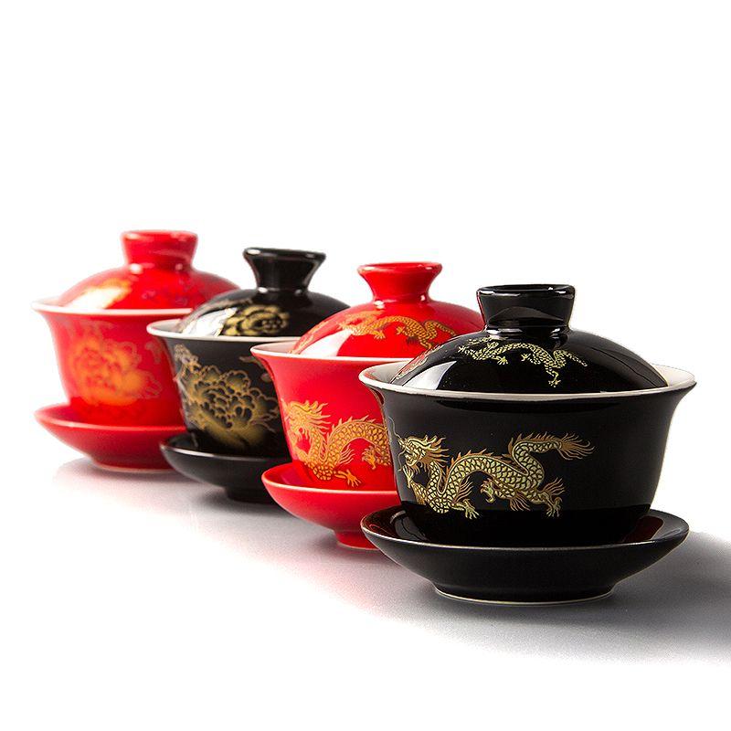 Cheap Gai Wan Buy Quality Set Tea Cup Directly From China Tea Cup Porcelain Suppliers 80ml Red Teapot Ceramics Gai Wan Tea China Kungfu Tea Sets Tea Cup Kungfu