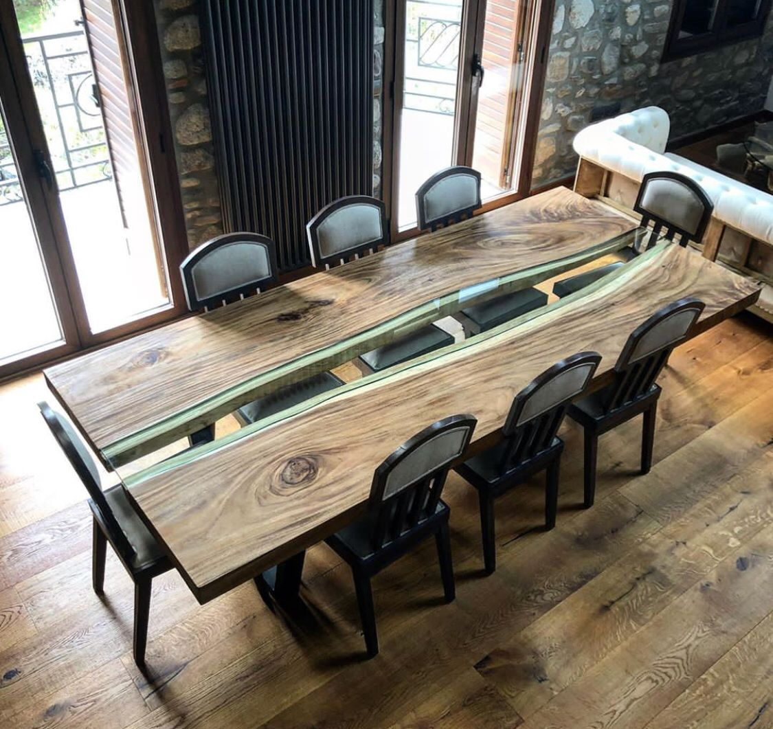 Mesa de madera tropical antigua | Mesas de comedor de madera