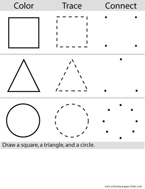 Shape Color Pages Coloring Pages For Kids Educational Coloring Pages Learning Teach Edu Sc Preschool Colors Preschool Learning Preschool Worksheets