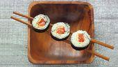 Maki au saumon et à la mangue avec espuma de wasabi - Terrafemina