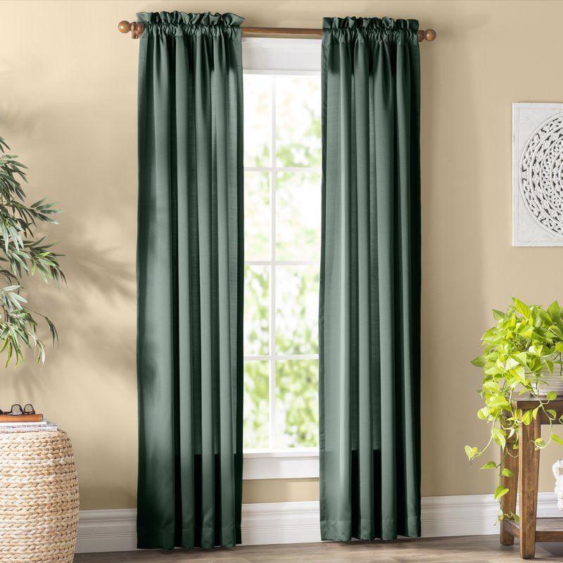 Wayfair Basics Solid Room Darkening Rod Pocket Single Curtain