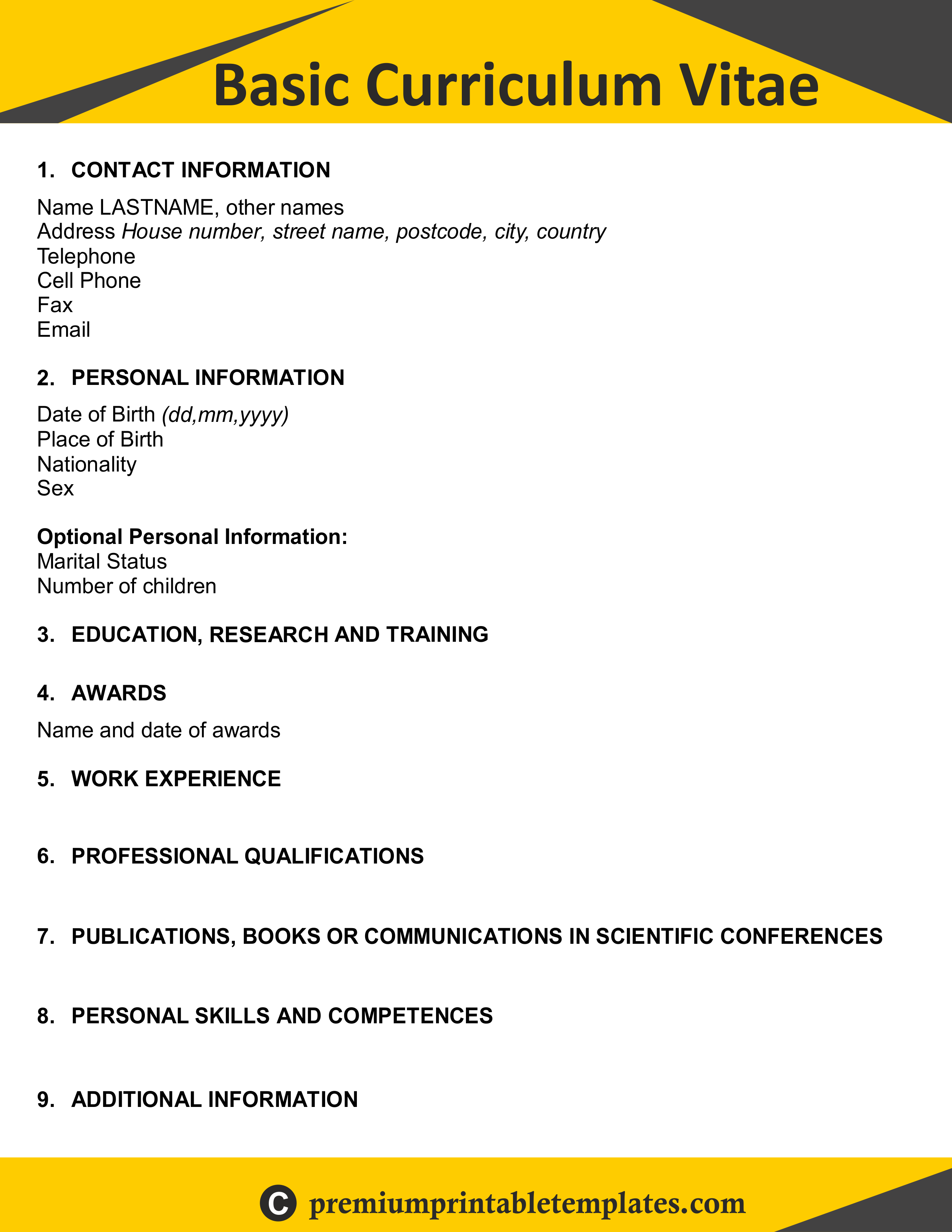 A Curriculum Vitae Very Useful For Students Who Just Passed Or Completed Any Graduation Course Cv Takes Place Very Curriculum Vitae Curriculum Resume Writing