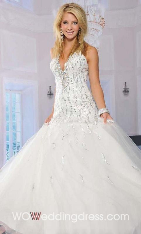 the Best Brilliance V-Neck Floor-length Organza Ball Gown Prom Dress ...