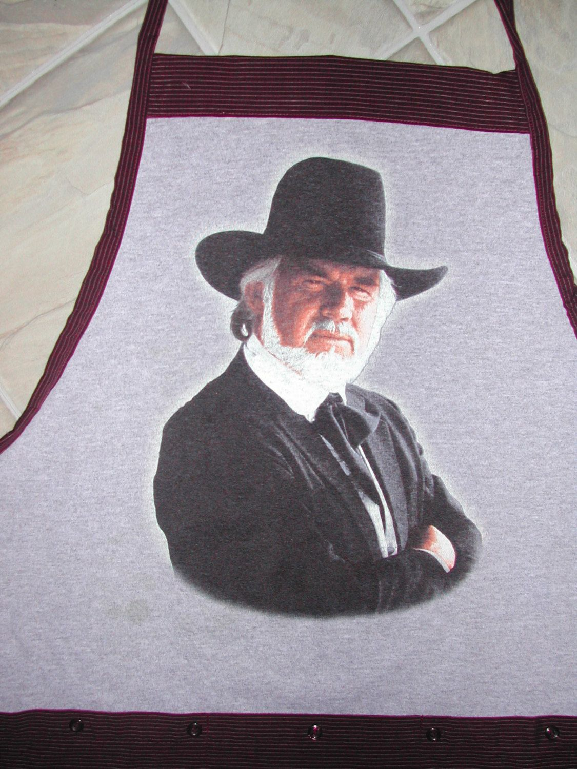 Kenny Rogers Apron or Adult Bib by funfoodsaprons on Etsy