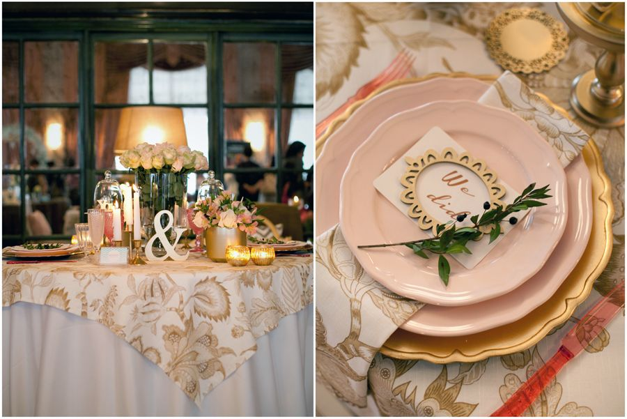 Pink and Gold decoration