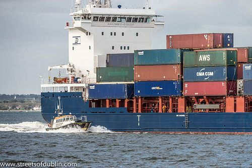 Container Ship Sophia (IMO 9433456) Sailing From Dublin Port [The Streets Of Ireland]