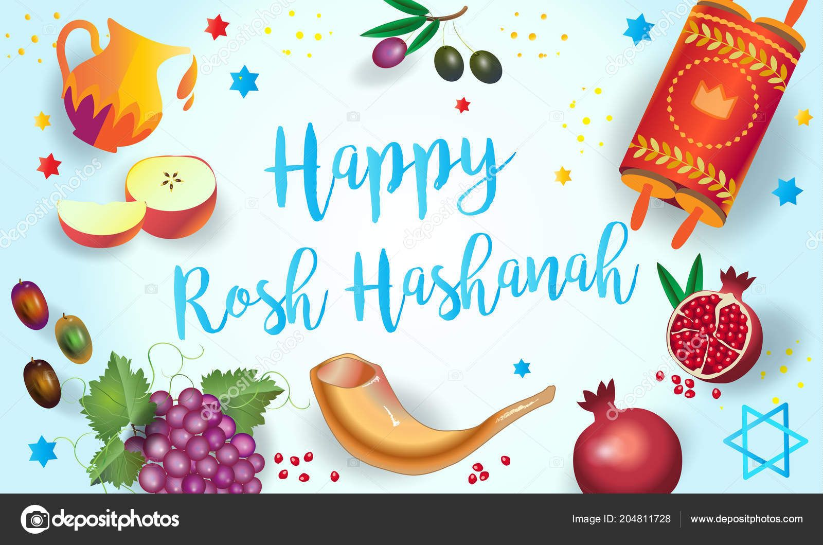 Download Happy Rosh Hashanah Greeting Card Jewish New