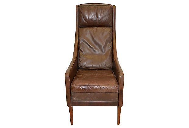For tall people, like me - Danish High-Back Leather Chair ...