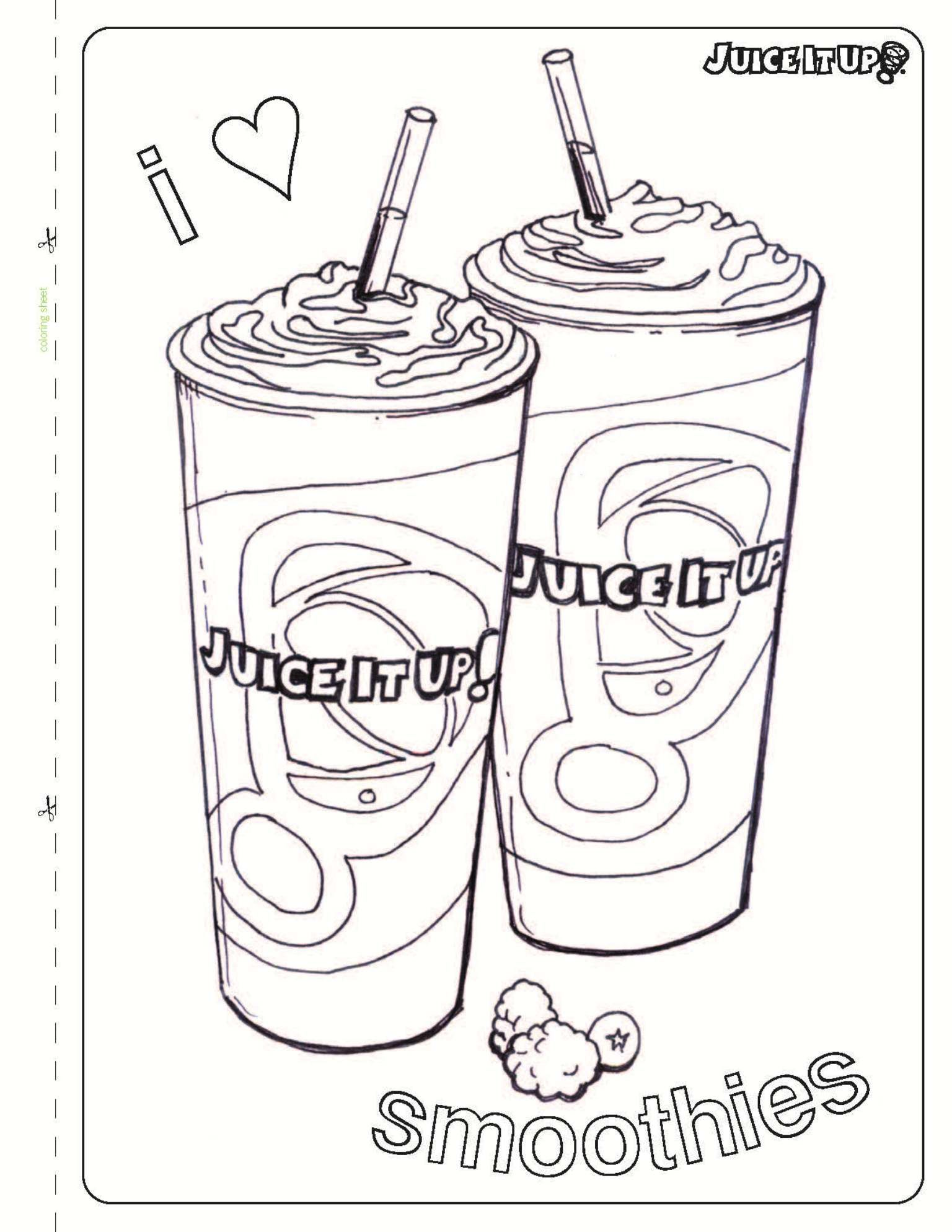 Juice It Up! Kids Coloring Sheets - Print Out & Color #fun #smoothie ...