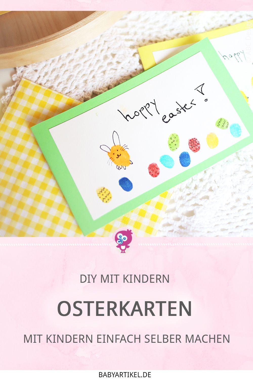 DIY: Fingerprint Osterkarten mit Kindern ganz einfach selber machen   Babyartikel.de Magazin