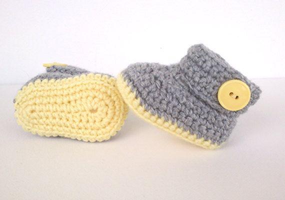 Gehäkelte Muster für Baby Booties. HÄKELN MUSTER NUR *** Skill-Level ...