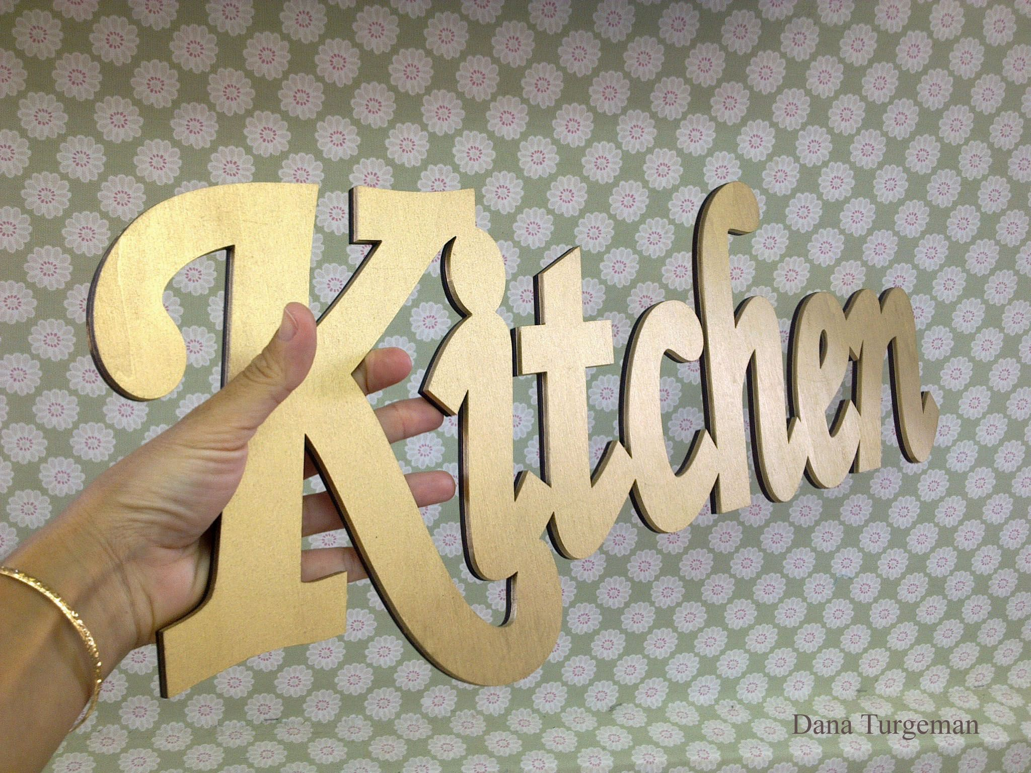 Decorative Wooden Kitchen Signs Unique Wooden Kitchen Sign Vintage Styledana Turgeman  Decorative Decorating Inspiration