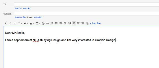 Write An Email Asking For An Internship