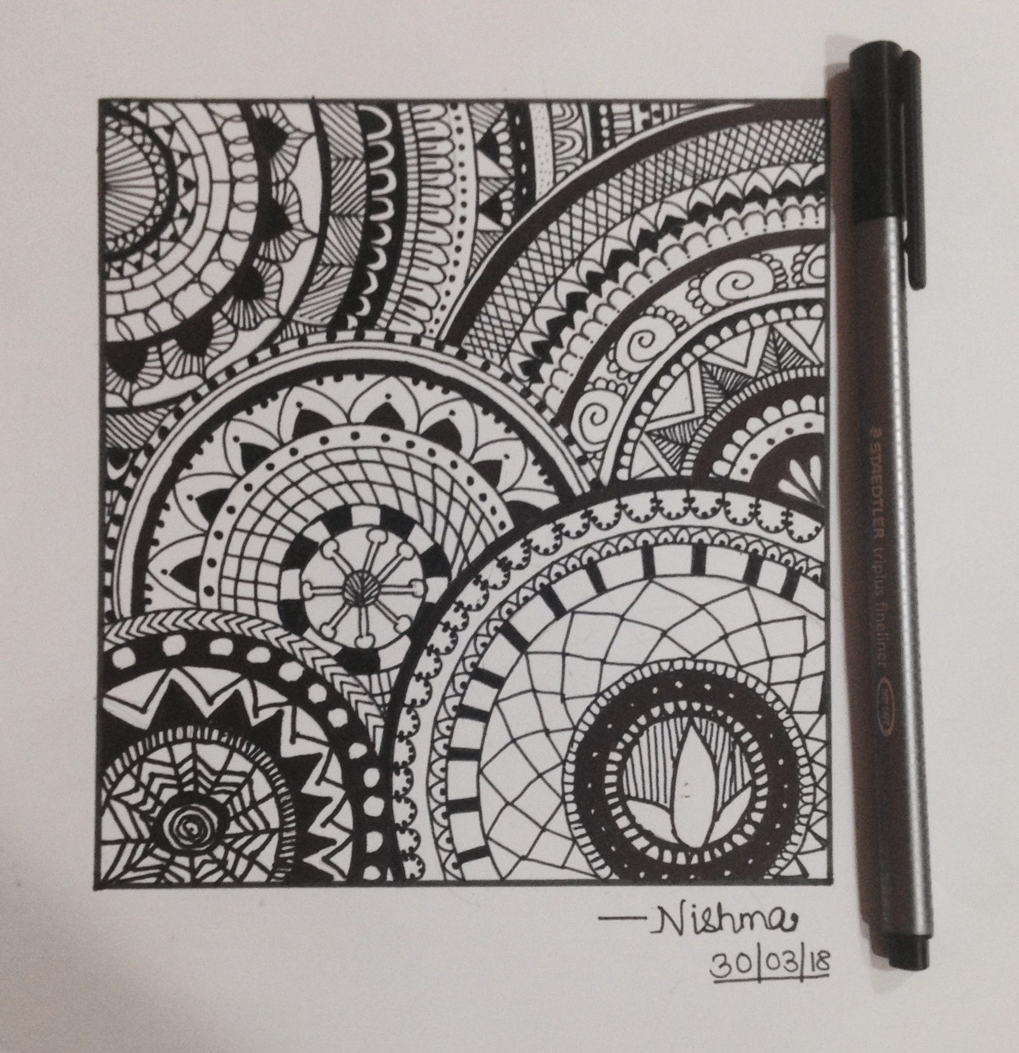 wonderful Pretty Designs Tumblr Part - 8: mandala design #zentangle #borders #designs #tumblr #mandala #art #easy # pretty