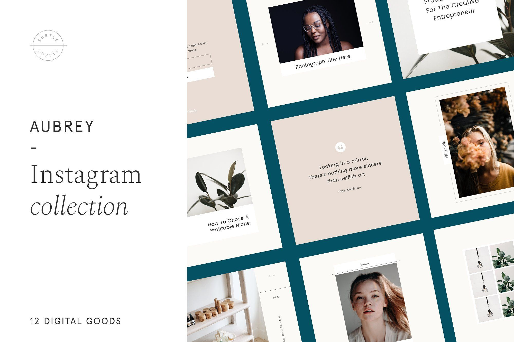 Aubrey - Instagram Post Templates Collection  A collection of