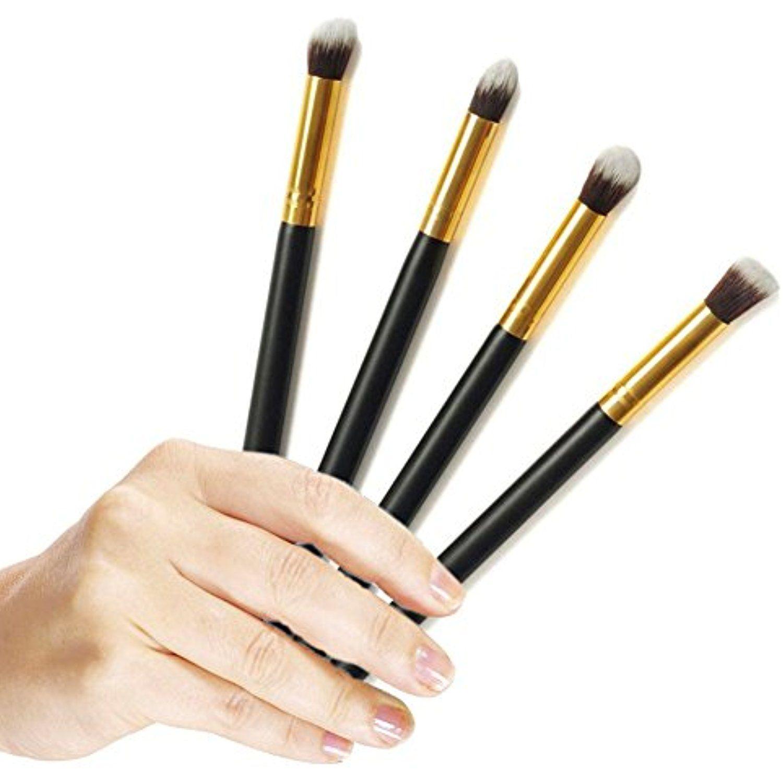 Professional 4pcs Eye Brushes Set Eyeshadow Blending