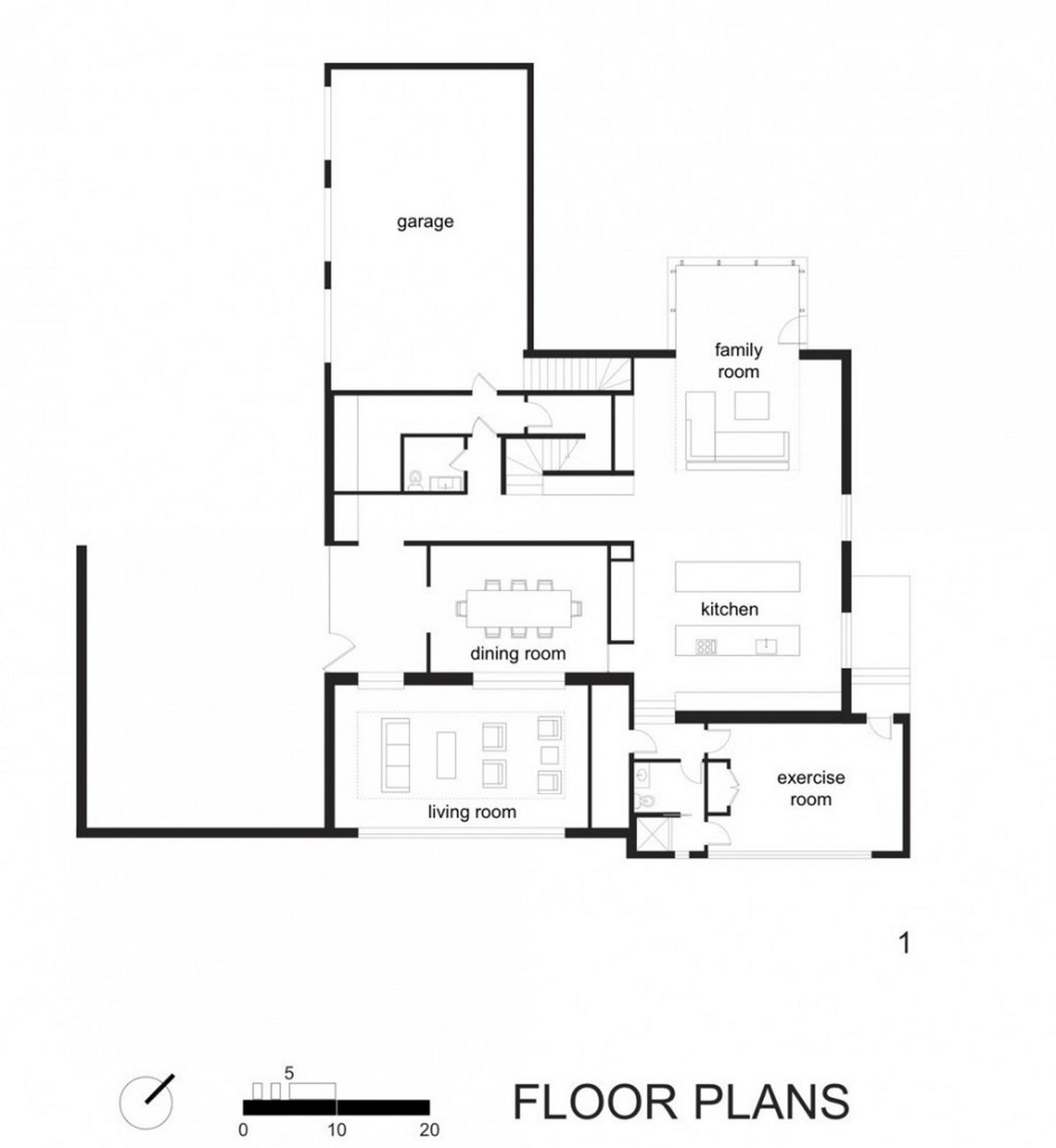 Uncategorized White Minimalist House Design Floor Plans