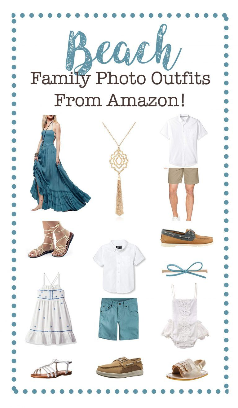 Beach Family Photo Outfits from Amazon! | Affordable Photography Props