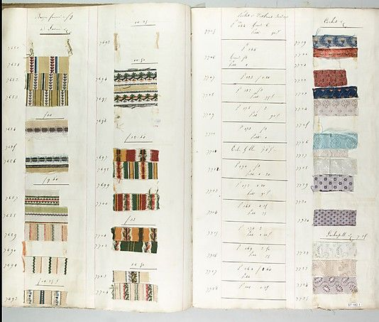 Textile Sample Book    Date:      1818  Culture:      French (Lyons) Met Museum