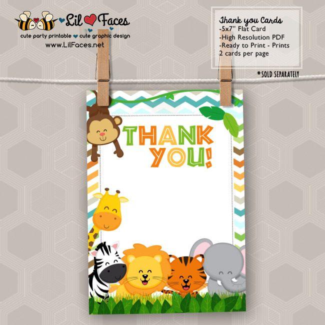 Safari Jungle Birthday Party Printable Invitations Cute Safari Animals