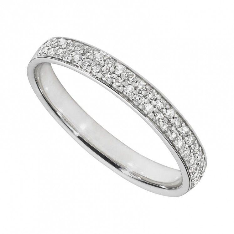 Ladies White Gold 0 30 Carat Diamond Pave Wedding Ring Gold Diamond Wedding Band Diamond Wedding Bands Pave Wedding Rings