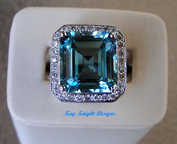 Bold and beautiful Kashmir Topaz ring by kayknightdesigns on Etsy
