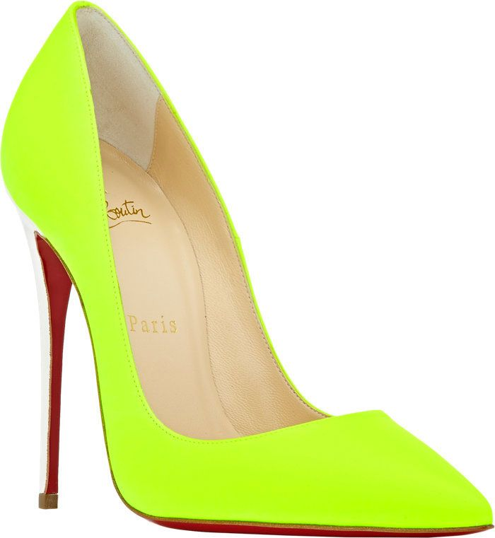 christian louboutin yellow heels
