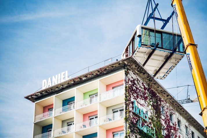 The New LoftCube on the Rooftop of Hotel Daniel in Graz, Austria | http://www.yatzer.com/LoftCube-hotel-daniel-graz