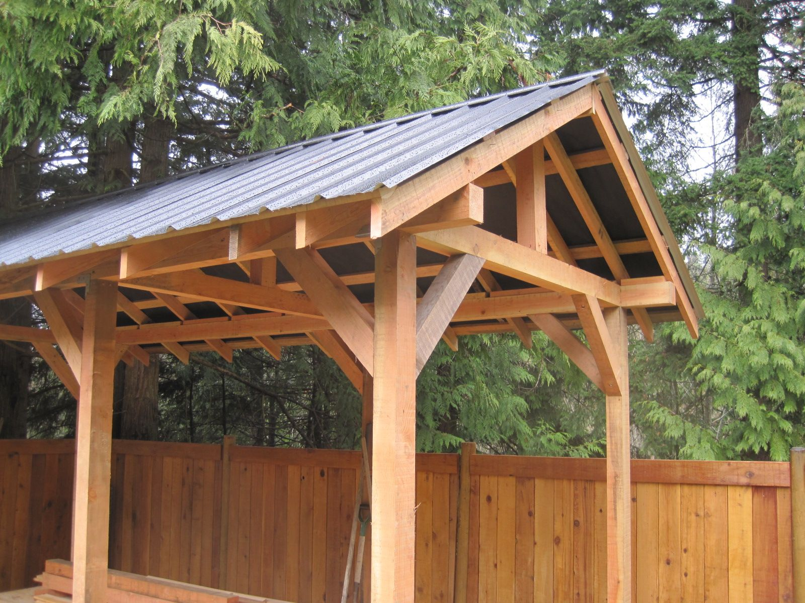 Custom small post and beam structures peerless forest for Post and beam construction