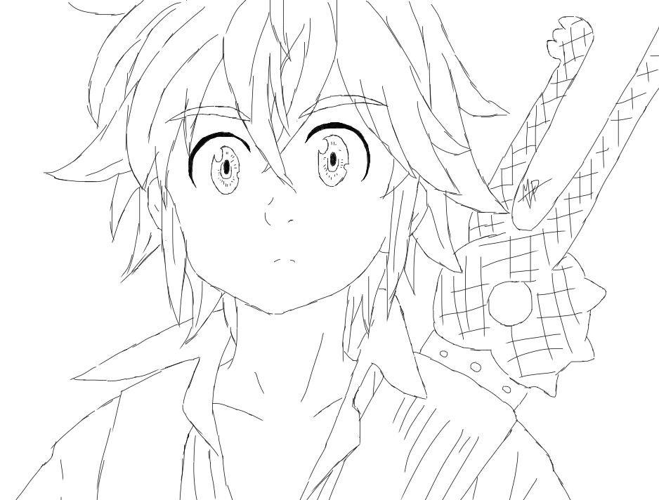 Meliodas Para Colorear E Imprimir Anime Para Colorear