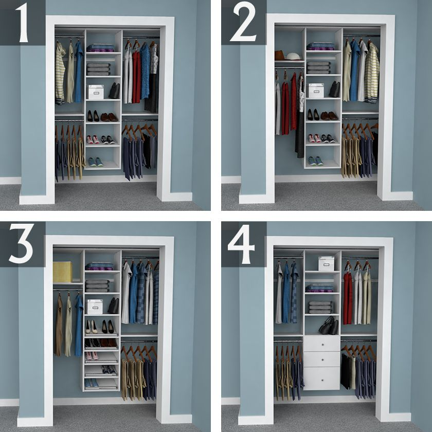 Design Ideas For 6 Foot 3 Foot And 2 Foot Reach In Closets Easyclosets Bedroom Closet Design Closet Remodel Bedroom Organization Closet