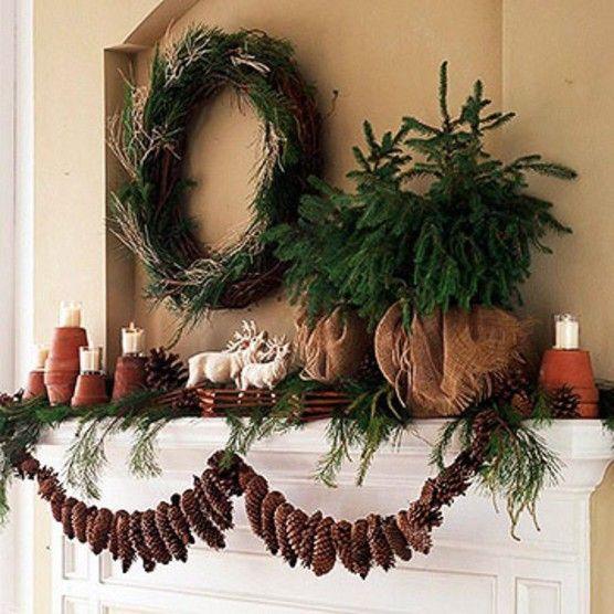 Pin By Life Abundantly Gentle C On Christmas Natural Christmas Decor Christmas Lodge Christmas Decorations