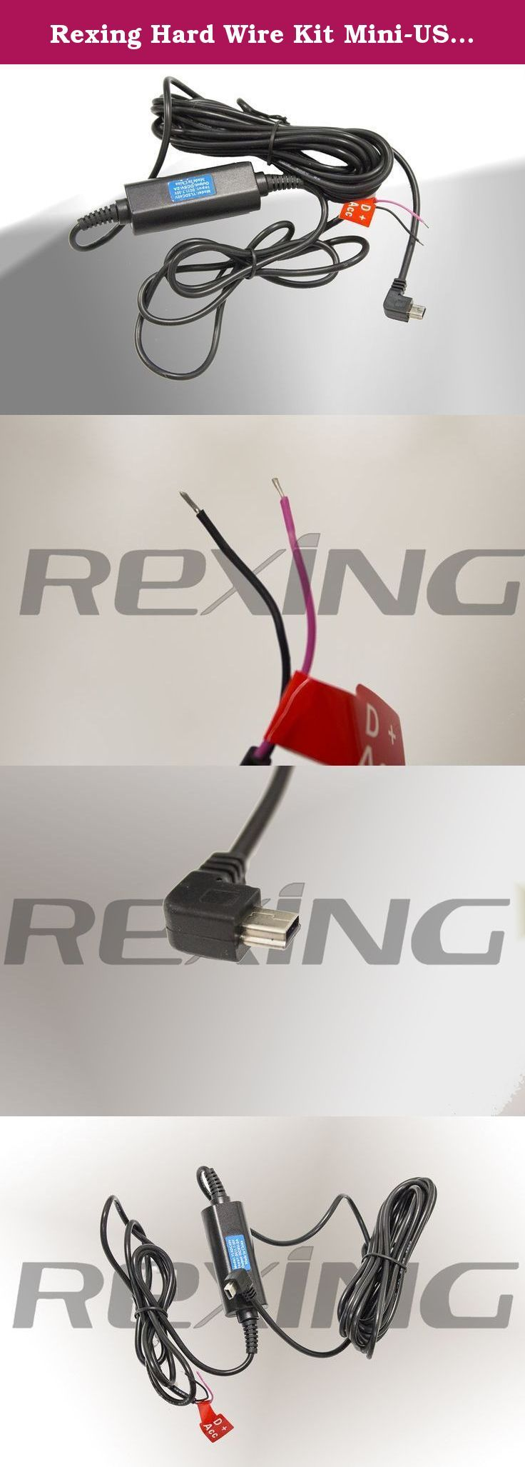 Rexing Hard Wire Kit Mini Usb Port For Rexin Car Fuse Box To Dash Cam Input Dc 117v 30v Output 5v 2a Length 13ft You May Need A Blade